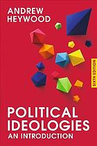 Book cover Political ideologies : an introduction