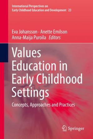 Book cover Values Education in Early Childhood Settings