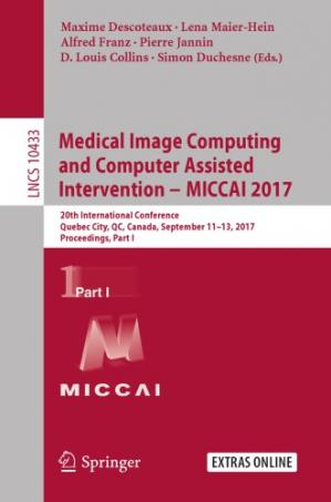 A capa do livro Medical Image Computing and Computer-Assisted Intervention - MICCAI 2017, 20 conf., part 1