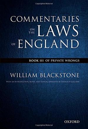 पुस्तक कवर The Oxford Edition of Blackstone's: Commentaries on the Laws of England: Book III: Of Private Wrongs