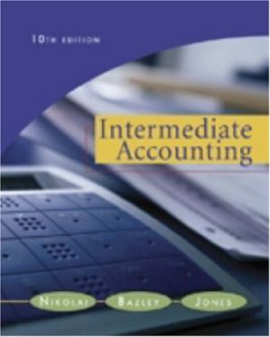 表紙 Intermediate Accounting , 10th Edition (with Business and Company Resource Center)