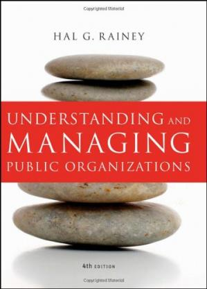 表紙 Understanding and managing public organizations