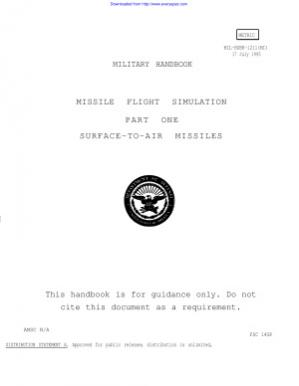 पुस्तक कवर Military handbook. Missile flight simulation. Part one. Surface-to-air missiles