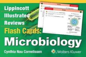 Book cover Lippincott Illustrated Reviews Flash Cards: Microbiology