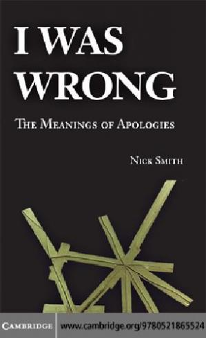 Copertina I was wrong: the meanings of apologies