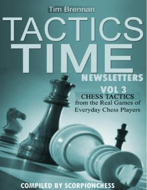 Portada del libro Tactics Time Newsletters. Vol.3 Chess tactics from the Real Games of Everyday Chess Players