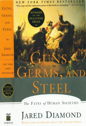 Book cover Guns, Germs, and Steel, The Fates of Human Societies