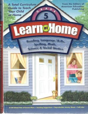 Book cover Learn at Home Grade 5 (1st 9 weeks)