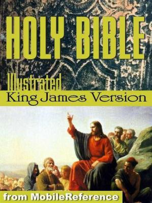 पुस्तक कवर Holy Bible - The Illustrated King James Bible (KJV): The Old Testament, The New Testament, and Deuterocanonical literature