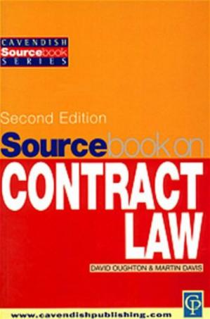 Book cover Sourcebook on Contract Law