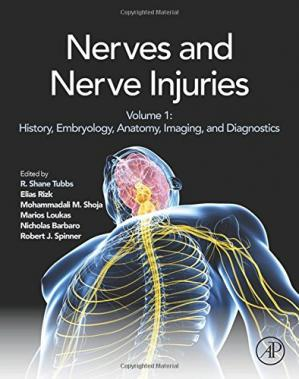 A capa do livro Nerves and Nerve Injuries: Vol 1: History, Embryology, Anatomy, Imaging, and Diagnostics