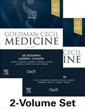 বইয়ের কভার Goldman-Cecil Medicine, 2-Volume Set, 26th Edition