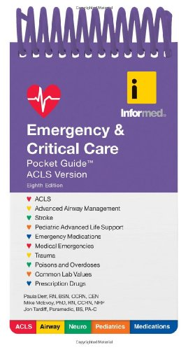 Book cover Emergency  &  Critical Care Pocket Guide, ACLS version