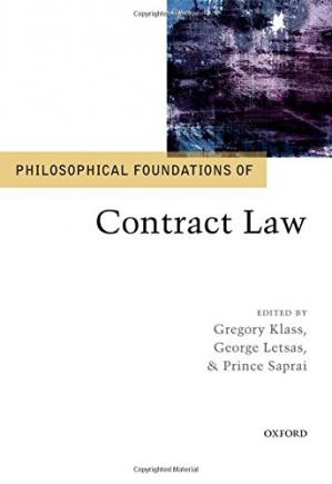 Buchdeckel Philosophical foundations of contract law