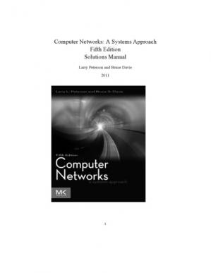 Book cover Computer Networks: A Systems Approach. Solutions Manual