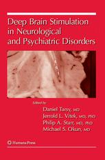 La couverture du livre Deep Brain Stimulation in Neurological and Psychiatric Disorders