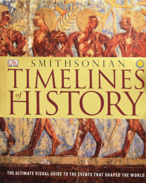 کتاب کی کور جلد Timelines of History: The Ultimate Visual Guide To The Events That Shaped The World