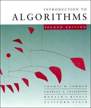 Book cover Introduction to algorithms