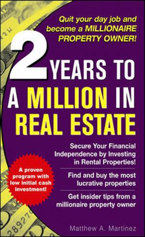 Εξώφυλλο βιβλίου 2 years to a million in real estate