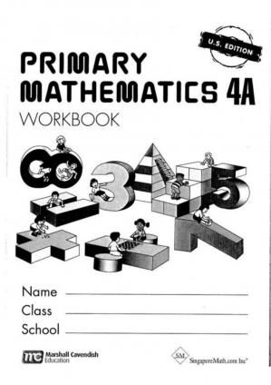 Book cover Singapore Math 4A - Workbook_page_0001