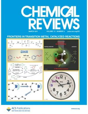 Copertina Chemical Reviews: Vol 111 No 3. Frontiers in Transition Metal Catalyzed Reactions  issue 3
