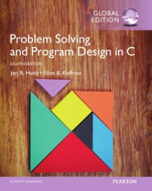 Book cover Problem Solving and Program Design in C, Global Edition
