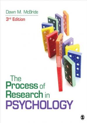 Book cover The Process of Research in Psychology
