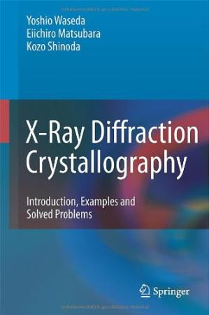 表紙 X-Ray Diffraction Crystallography: Introduction, Examples and Solved Problems