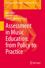 Book cover Assessment in Music Education: from Policy to Practice