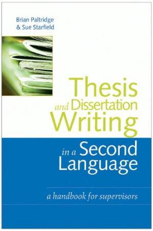 A capa do livro Thesis and Dissertation Writing in a Second Language: A Handbook for Supervisors